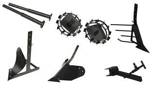 Комплект насадок для FJ500 (грунтозацепы, удлинитель, плуг, картофелевыкапыватель, окучник, сцепка)